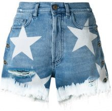 Faith Connexion - Shorts con stelle - women - Cotone - 25, 26, 27, 28 - Blu