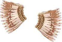 Mignonne Gavigan - wings beaded earrings - women - Acetate - OS - NUDE & NEUTRALS