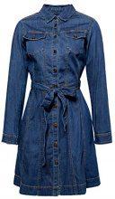 edc by Esprit 107cc1e022, Vestito Donna, Blu (Blue Medium Wash 902), Small