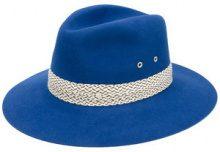 Maison Michel - contrast trim hat - women - Rabbit Fur Felt - M, L, S - BLUE