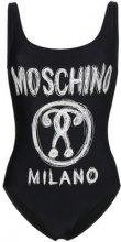 Moschino - Costume da bagno intero con logo - women - Polyamide/Spandex/Elastane - 36, 38 - Nero