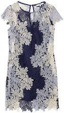 FIND 13611 Vestito Donna, Blu (Blue Mix), 42 (Taglia Produttore: Small)
