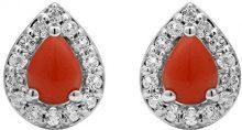 Jewelili Donna  925  argento Pera   arancione altro Topazio FASHIONEARRING