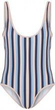 Y.A.S Striped Tanga Swimsuit Women Blue