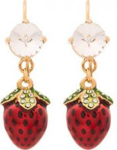 Miu Miu - Orecchini fragola - women - Metal (Other)/glass - OS - RED