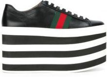 Gucci - Sneakers con plateau - women - Leather/rubber - 37, 38, 39, 41, 38.5 - BLACK
