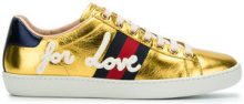 Gucci - Ace sneakers - women - Leather/Nappa Leather/rubber - 38, 38.5, 39, 40, 41 - METALLIC