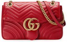 Gucci - GG Marmont matelassé shoulder bag - women - Leather/metal/Microfibre - OS - Rosso