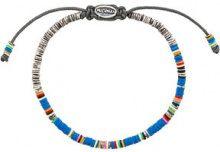 M. Cohen - Braccialetto con perline - women - Nylon/Silver - OS - BLUE