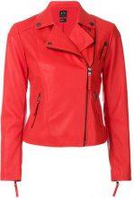 Armani Exchange - Giacca biker crop - women - Polyester/Polyurethane - S, M, L - Rosso