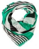 Foulard - white/black/green