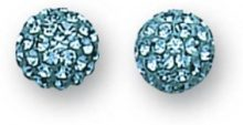 SE5311/Blue Zircon - Orecchini a lobo da donna, argento sterling 925
