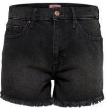 ONLY Raw Denim Shorts Women Black