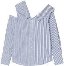 FIND Camicia Oversize a Righe Donna, Multicolore (Blue/White Stripe), 50 (Taglia Produttore: XX-Large)