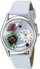 Whimsical Watches - Orologio da polso, analogico al quarzo, pelle