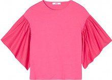 FIND T-Shirt con Manica a Tre Quarti Donna, Rosa, 52 (Taglia Produttore: XXX-Large)