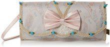Irregular Choice Bow Beauty Clutch - Pochette da giorno Donna, Bianco (White), 6x13x30 cm (W x H L)