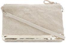 Vanessa Bruno - sequin mini crossbody bag - women - Linen/Flax - OS - NUDE & NEUTRALS
