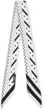 Rockins - polka dot and stripe skinny scarf - women - Silk - OS - WHITE