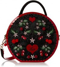 Irregular Choice Cherry Love Bag - Borse a mano Donna, Black, 8x28x29 cm (W x H L)