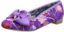 Irregular ChoiceSulu - Scarpe col Tacco Punta Chiusa Donna, Viola (Purple (Purple Floral)), 42