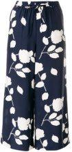 P.A.R.O.S.H. - Pantaloni crop - women - Silk - XS - Blu