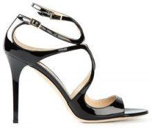 Jimmy Choo - Sandali 'Lang' - women - Patent Leather - 36, 37, 38, 38.5, 39, 40, 35, 36.5, 37.5, 39.5 - BLACK