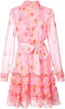 Dodo Bar Or - floral print ruffle trim mini dress - women - Polyester - 40 - PINK & PURPLE