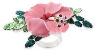 Dsquared2 - Anello con fiore decorato - women - Tin/Resin/Crystal/Brass - 53, 57, 60, 50 - MULTICOLOUR