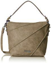 Tamaris Jutta Hobo Bag S - Borse a tracolla Donna, Grün (Khaki), 12x32x27 cm (B x H T)