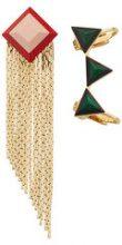Fendi - Orecchini geometrici - women - Brass - OS - GREEN