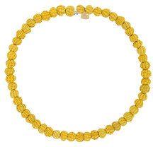 - Mercedes Salazar - Choker con perline intrecciate - women - bronzo - Taglia Unica - di colore giallo