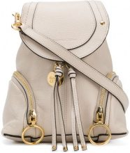 See By Chloé - Zaino 'Olga' - women - Cotton/Leather - One Size - NUDE & NEUTRALS