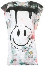 Night Market - smiley print T-shirt - women - Cotton - XXS - MULTICOLOUR