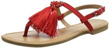 New Look Wide Foot Hippy, Sandali Punta Aperta Donna, Red (Bright Red 60), 40 EU