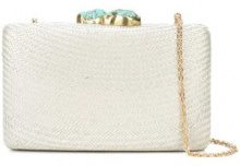 Kayu - woven clutch bag - women - Straw - OS - GREY