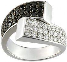 Miore VR011GBN-Anello da donna, oro bianco, 750/1000-9,2Gr, con diamanti, colore: bianco e 1,31Ct, taglia 54, colore: nero