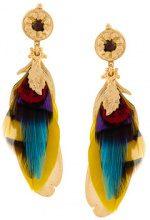 Gas Bijoux - Orecchini 'Sao' - women - 24kt Gold Plate/Feather - OS - METALLIC
