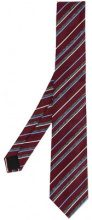 Cerruti 1881 - Cravatta a righe - men - Silk/Cotton - OS - RED