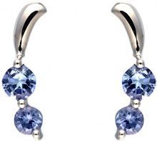 Ivy Gems Donna 9cts (375) Oro bianco Ronde blu FINEEARRING