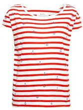 edc by Esprit 028cc1k072, T-Shirt Donna, Rosso (Orange Red 635), X-Large