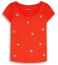 edc by Esprit 057cc1k015, T-Shirt Donna, Rosso (Orange Red), 40 (Taglia Produttore: Large)