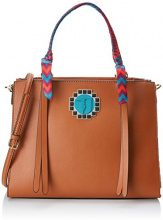 Trussardi Jeans Bluebell, Borsa a Spalla Donna, Marrone (Leather), 36x24.5x14.5 cm