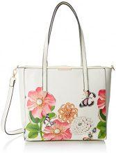 SwankySwans Rosie Patent Leather Tote - Borse Donna, Bianco Sporco (Pearl), 12x33x26 cm (W x H x L)