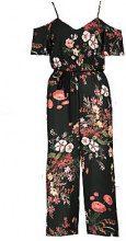 Nina Cold Shoulder Dark Floral Jumpsuit