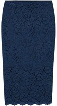 FIND Lace Midi Gonna Donna, Blu (French Navy), 46 (Taglia Produttore: Large)