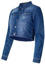 Noppies Jacket Denim Rowan 70205, Giacca per Donna Blu (Mid Blue C300), S