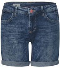 Street One 371344 Kate, Pantaloncini Donna, Blau (Dark Blue Vintage Wash 11385), W25