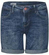 Street One 371344 Kate, Pantaloncini Donna, Blau (Dark Blue Vintage Wash 11385), 36