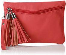 Boscha BO-1072-CS, Sacchetto Donna, Rosso (Rosso (red 019)), 1x17x24 cm (B x H x T)